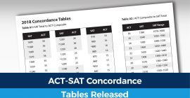 New Tables Compare ACT to SAT Scores