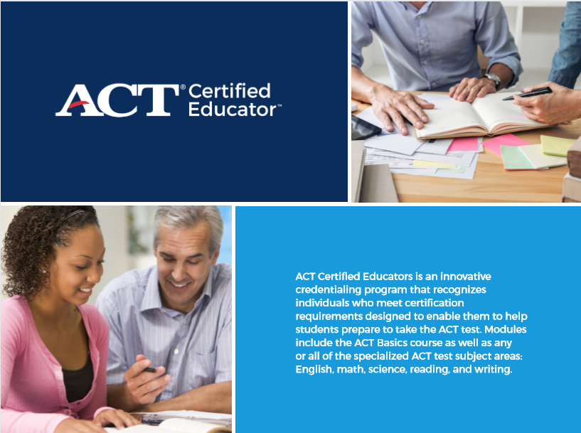 Become an ACT Certified Educator