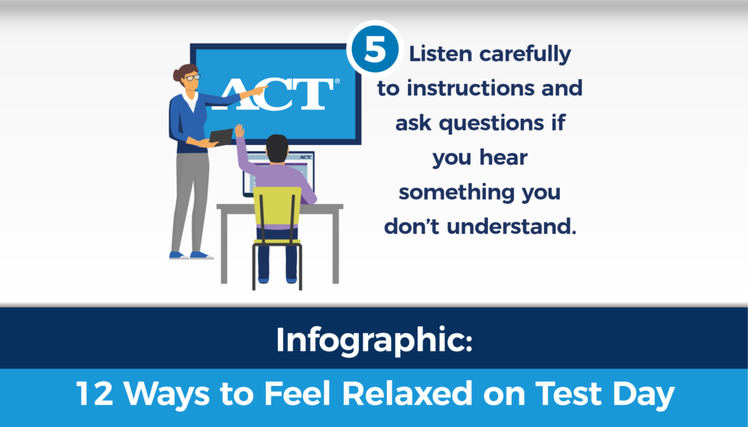 Infographic: 12 ways to reduce test anxiety