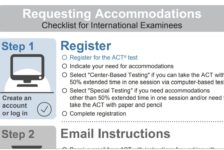 Infographic: How to request accommodations on the ACT test